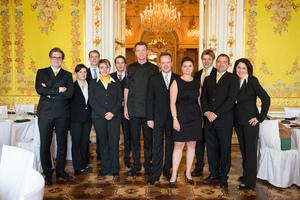 SALON Gala Dinner 2013 - Sommeliers, Silvio Nickol, Barbara Arbeithuber, Gerhard Elze