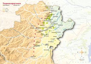 Topografische Karte Thermenregion russisch
