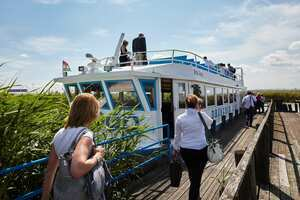 Weingipfel 2015 - Relaxed Boat Trip with coffee & cake across Lake Neusiedl, Illmitz to Rust
