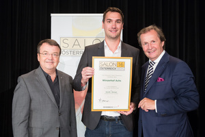 Weingut Achs, links: Geschäftsführer ÖWM Willi Klinger, rechts: Leiter Food & Beverage Casinos Austria Oliver Kitz