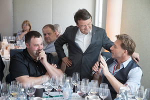"Weingipfel 2017: Seated Blind Tasting ""Austria against the rest of the world""; Presented by: Gerhard Retter (Sommelier & Owner Fischerklause Lütjensee and Cordobar), Willi Balanjuk (Wine Editor À La Carte) and Willi Klinger (Managing Director AWMB), Restaurant Steirereck, Vienna"