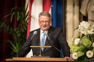Weintaufe Österreich und Verleihung Bacchuspreis 2017 im Wiener Rathaus, Wien; Andrä Rupprechter (Bundesminister)