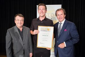 Weingut Ott, links: Geschäftsführer ÖWM Willi Klinger, rechts: Leiter Food & Beverage Casinos Austria Oliver Kitz