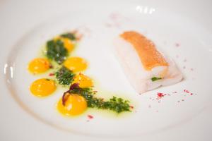 SALON Gala Dinner 2012 - Seezunge mit Parmesan, Karottenmousseline und Bärlauchsauce