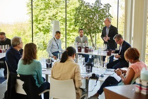 "Weingipfel 2017: Seated Vertical Tasting ""Wagram Grüner Veltliner and Roter Veltliner"", Presented by: Franz Leth, Thomas Schuster, Josef Fritz (all of them wine growers), Vinothek Weritas, Kirchberg am Wagram"