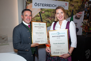 Bacchuspreisträger 2019 Markus Segmüller und Claudia Rossbacher