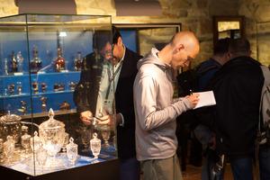 Weingipfel 2015 - Guided tour through the exhibition of ancient glass at Archeo Norico Museum, Burg Landsberg, Deutschlandsberg, Weststeiermark
