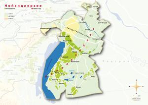 Topografische Karte Neusiedlersee, russisch