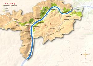 Topografische Karte Wachau russisch