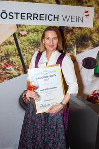 Bacchuspreisträgerin 2019 Claudia Rossbacher