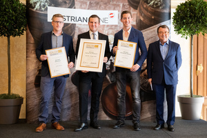 SALON 2019 Publikumsverkostung Wien, Palais Coburg, Siegerehrung der Top 3 in der Kategorie Burgundersorten kräftig