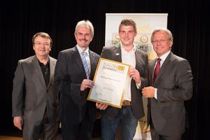Weingut Ruttenstock, links: Geschäftsführer ÖWM Willi Klinger & Landesrat Niederösterreich Karl Wilfing, rechts: Direktor Casino Baden Edmund Gollubitz