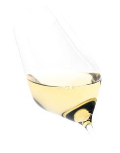 Weinglas gefüllt Weißwein