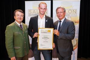 Weingut Mörwald GmbH, links: Geschäftsführer ÖWM Willi Klinger, rechts: Direktor Casino Baden Edmund Gollubitz