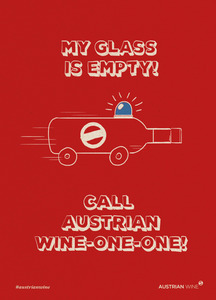 Cartoon/Freecard: Austrian Wine Ambulance