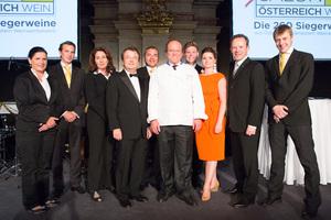SALON Gala Dinner 2012 - Sommeliers, Willi Klinger, Heinz Winkler, Barbara Arbeithuber, Gerhard Elze