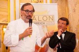 SALON Gala Dinner 2014 - links: Norbert Niederkofler, rechts: Geschäftsführer ÖWM Willi Klinger