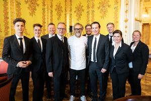 Salon 2019, Galadinner, Palais Coburg, Massimo Bottura (Sterne-Koch) und das Sommelier Team