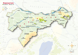 Topografische Karte Carnuntum russisch