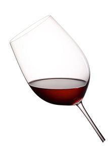 Rotwein Glas gefüllt
