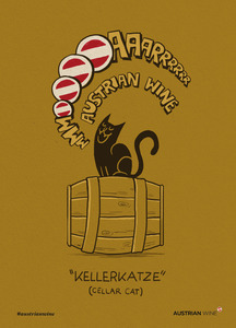 Cartoon/Freecard: Kellerkatze