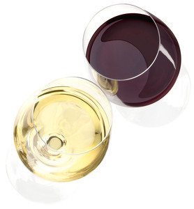 Riedel Gläser Rotwein Weisswein Aufsicht