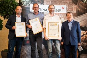 SALON 2019 Publikumsverkostung Wien, Palais Coburg, Siegerehrung der Top 3 in der Kategorie Blaufränkisch