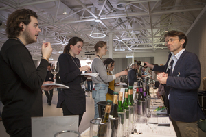 Interested Visitors at the Austrian Tasting London