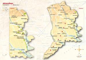 Topografische Karte Eisenberg russisch