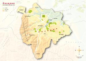 Topografische Karte Rosalia russisch