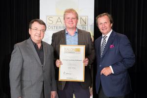 Weingut Ludwig Hofbauer, links: Geschäftsführer ÖWM Willi Klinger, rechts: Leiter Food & Beverage Casinos Austria Oliver Kitz