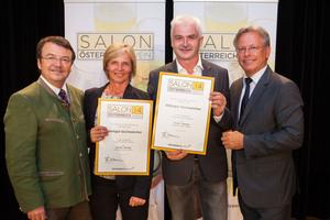 Weingut Gschweicher, links: Geschäftsführer ÖWM Willi Klinger, rechts: Direktor Casino Baden Edmund Gollubitz