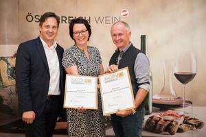 Weingut Eckhardt und Romana Paschek, Präsident des österreichischen Weinbauverbandes NR Hannes Schmuckenschlager