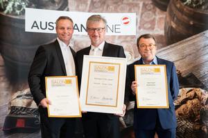 SALON 2019 Publikumsverkostung Wien, Palais Coburg, Siegerehrung der Top 3 in der Kategorie Alt-Österreich/autochthone Rebsorten