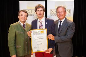 Weingut Schmidt, links: Geschäftsführer ÖWM Willi Klinger, rechts: Direktor Casino Baden Edmund Gollubitz