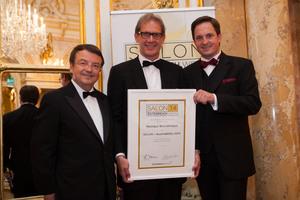 SALON 2014 Auserwählte: Weingut Bründlmayer, Kamptal (Bild Mitte), links: Geschäftsführer ÖWM Willi Klinger, rechts: Präsident des österreichischen Weinbauverbandes NR Hannes Schmuckenschlager
