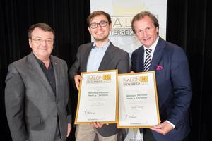 Weingut Nittnaus Hans & Christine, links: Geschäftsführer ÖWM Willi Klinger, rechts: Leiter Food & Beverage Casinos Austria Oliver Kitz