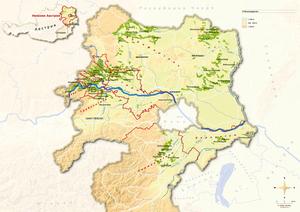 Topografische Karte Niederösterreich, russisch