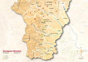 Topografische Karte Weststeiermark russisch