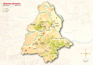 Topographical Map Südsteiermark Russian
