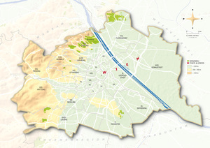 Topographical map Wien