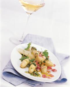 Spargel Vinaigrette mit Weißwein