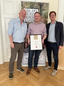 f.l.t.r. Krister Bengtsson, Star Wine List, Andreas Hiller, Heaven 23 und Winner Star Wine List of the Year Sweden, Oliver Chramosta