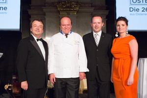SALON Gala Dinner 2012, v.l.n.r. Willi Klinger, Heinz Winkler, Gerhard Elze, Barbara Arbeithuber