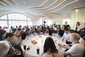 "Weingipfel 2017: Seated Blind Tasting ""Austria against the rest of the world""; Presented by: Gerhard Retter (Sommelier & Owner Fischerklause Lütjensee and Cordobar), Willi Balanjuk (Wine Editor À La Carte) and Willi Klinger (Managing Director AWMB), Restaurant Steirereck, Vienna"