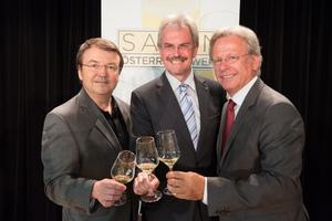 SALON Baden 2015 - v.l.n.r. Geschäftsführer ÖWM Willi Klinger, Landesrat Niederösterreich Karl Wilfing, Direktor Casino Baden Edmund Gollubitz