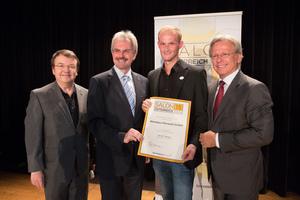 Weingut Mörwald GmbH, links: Geschäftsführer ÖWM Willi Klinger & Landesrat Niederösterreich Karl Wilfing, rechts: Direktor Casino Baden Edmund Gollubitz