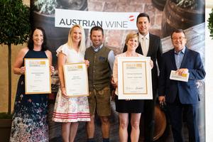 SALON 2019 Publikumsverkostung Wien, Palais Coburg, Siegerehrung der Top 3 in der Kategorie Schmeckerte