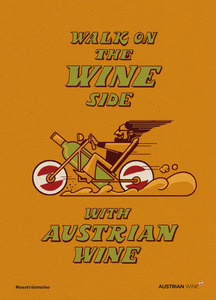 Cartoon/Freecard: Wine Biker