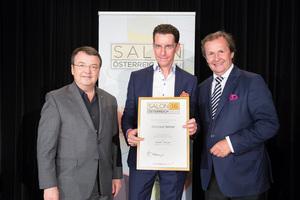 Weingut Setzer, links: Geschäftsführer ÖWM Willi Klinger, rechts: Leiter Food & Beverage Casinos Austria Oliver Kitz